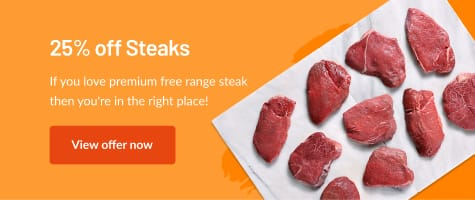25% off Steaks