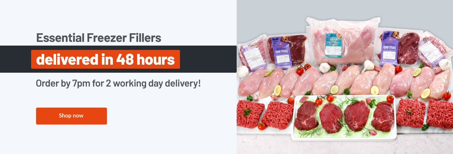 Essential freezer fillers delivered in 48hrs