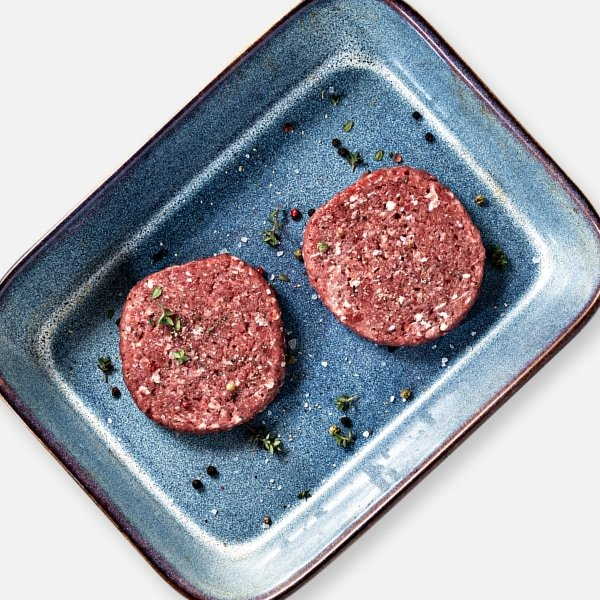 2 x 114g Free Range Steak Burgers