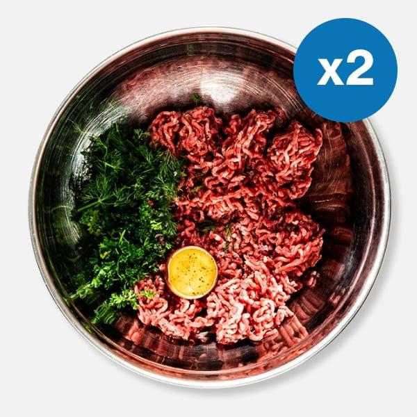 2 x 200g Beef Steak Mince