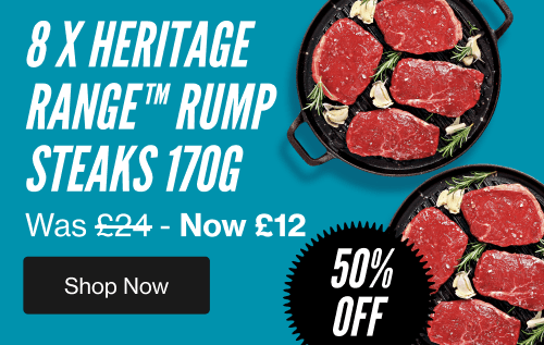 Black Friday Steak Deal 8 x 170g Heritage Rump